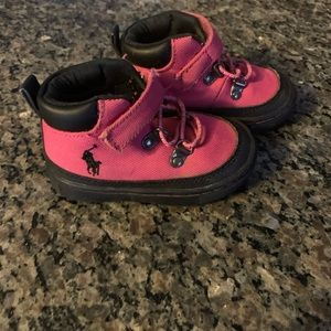 Toddler girls polo boots